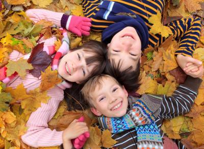 Kinderen spelen in de herfstvakantie in Den Dolder